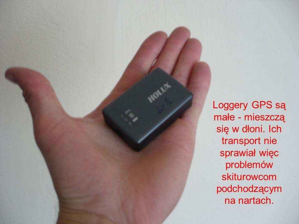 Loggery GPS są małe - mieszczą się w dłoni