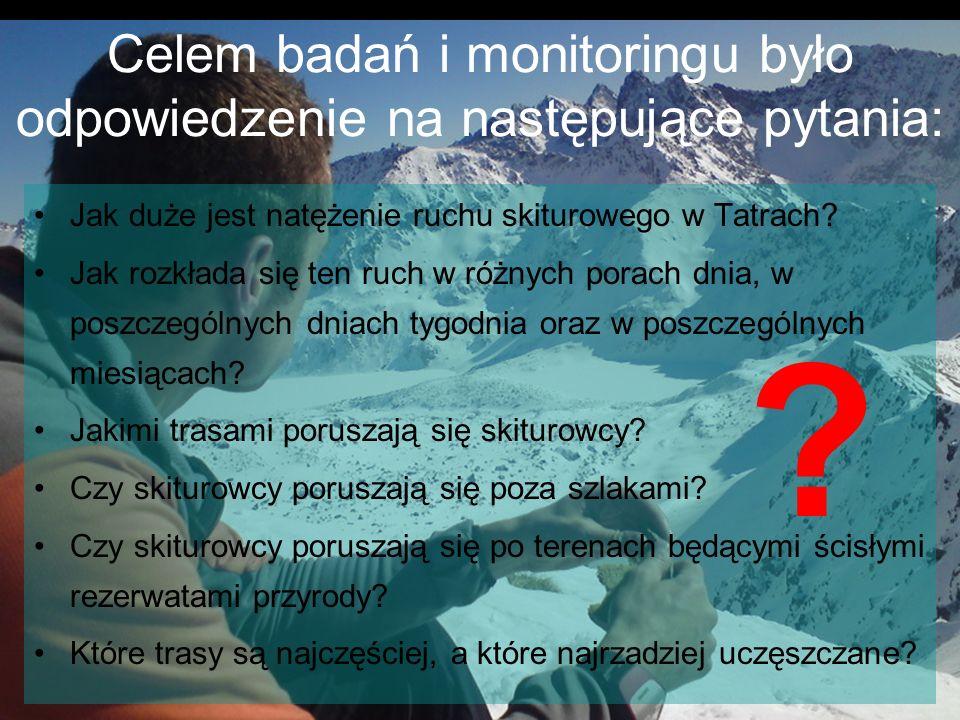 Celem badań i monitoringu było odpowiedzenie na następujące pytania:
