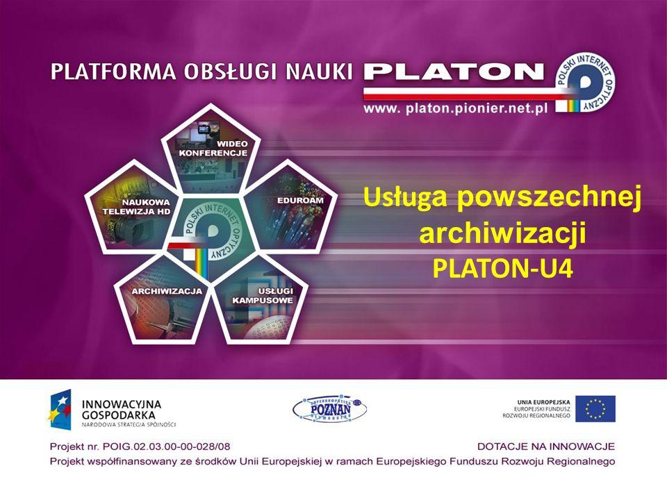 Usługa powszechnej archiwizacji PLATON-U4