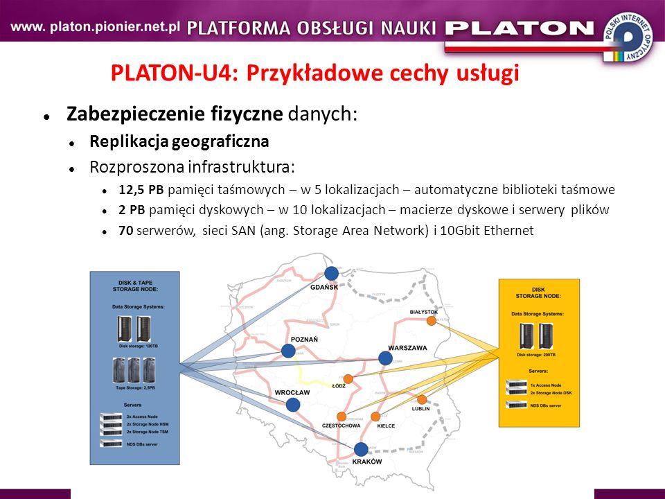 PLATON-U4: Przykładowe cechy usługi