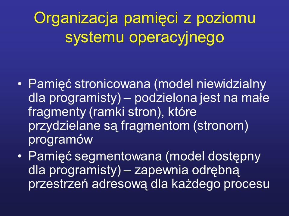 Organizacja pamięci z poziomu systemu operacyjnego