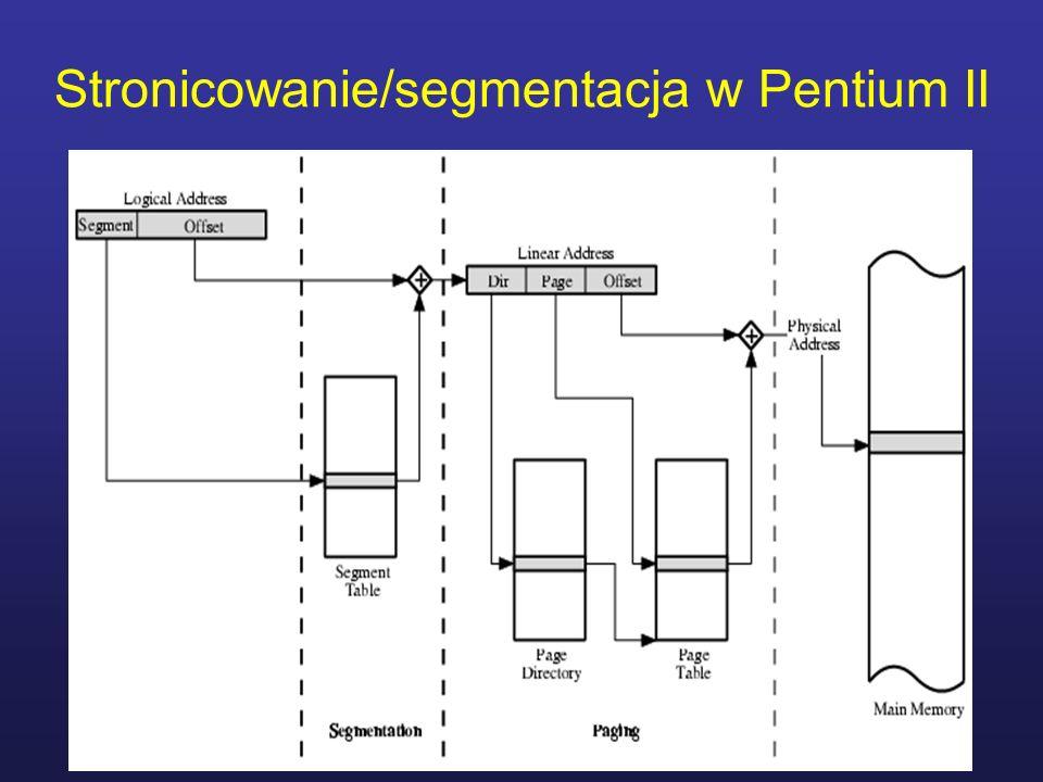 Stronicowanie/segmentacja w Pentium II
