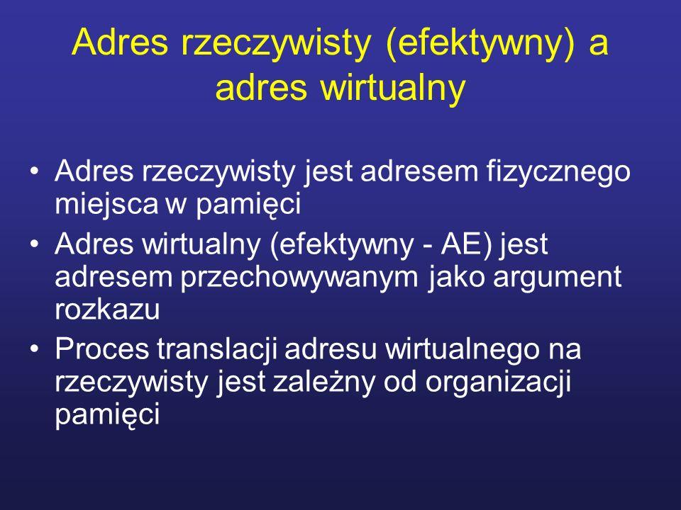 Adres rzeczywisty (efektywny) a adres wirtualny