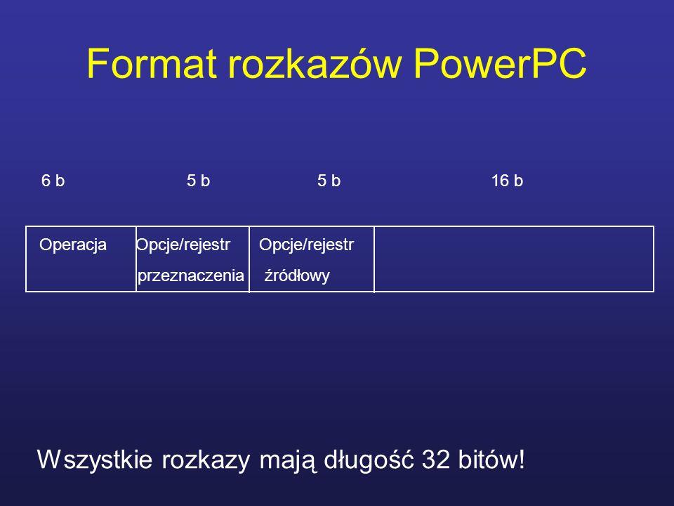 Format rozkazów PowerPC