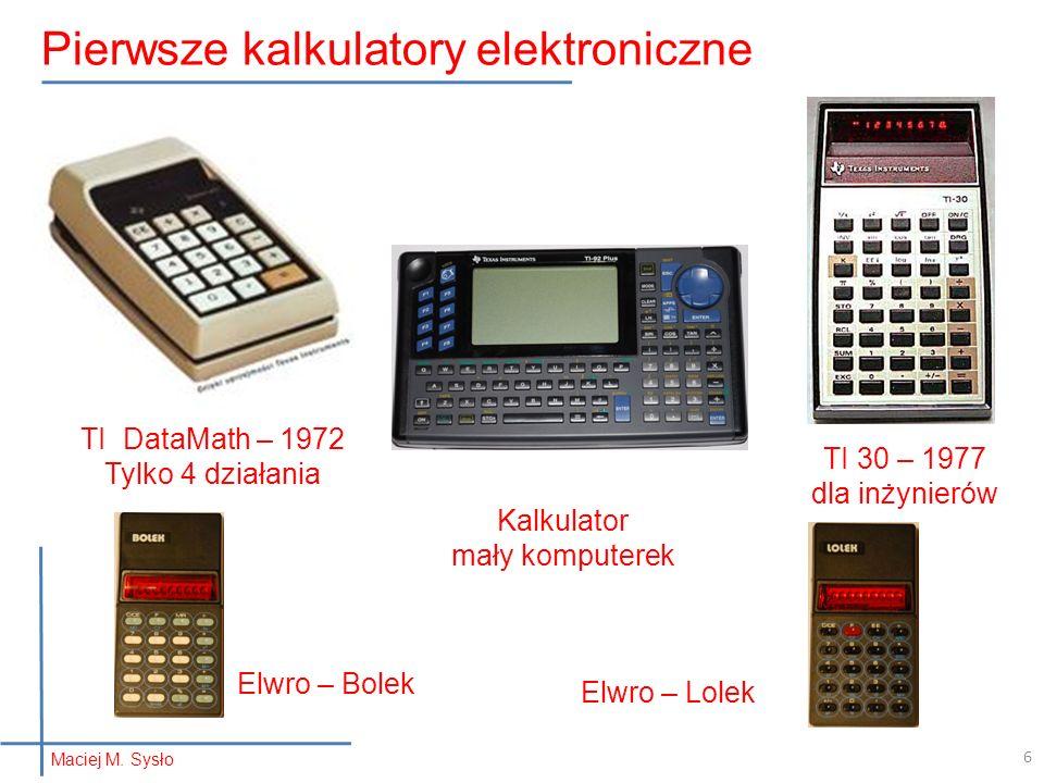 Pierwsze kalkulatory elektroniczne