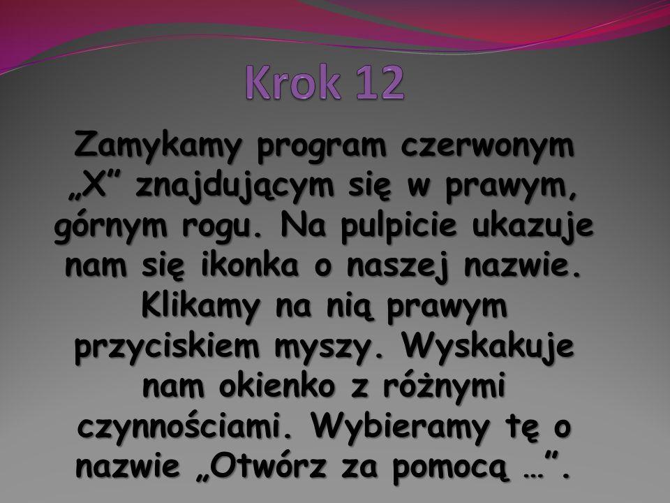 Krok 12