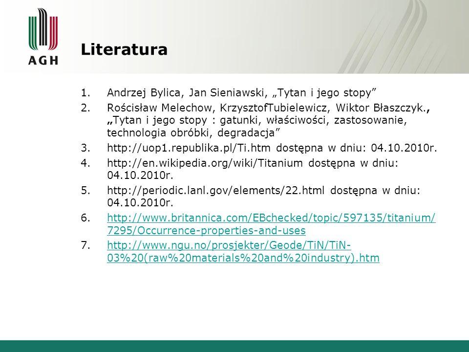 """Literatura Andrzej Bylica, Jan Sieniawski, """"Tytan i jego stopy"""