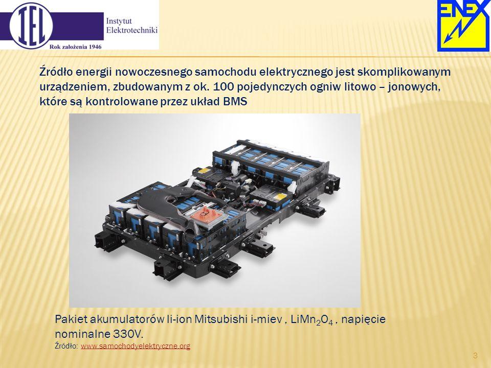 Źródło energii nowoczesnego samochodu elektrycznego jest skomplikowanym urządzeniem, zbudowanym z ok. 100 pojedynczych ogniw litowo – jonowych, które są kontrolowane przez układ BMS