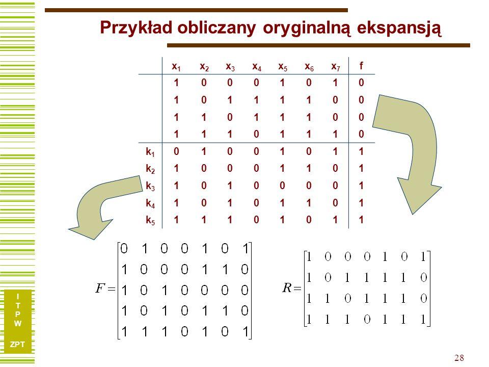 Przykład obliczany oryginalną ekspansją