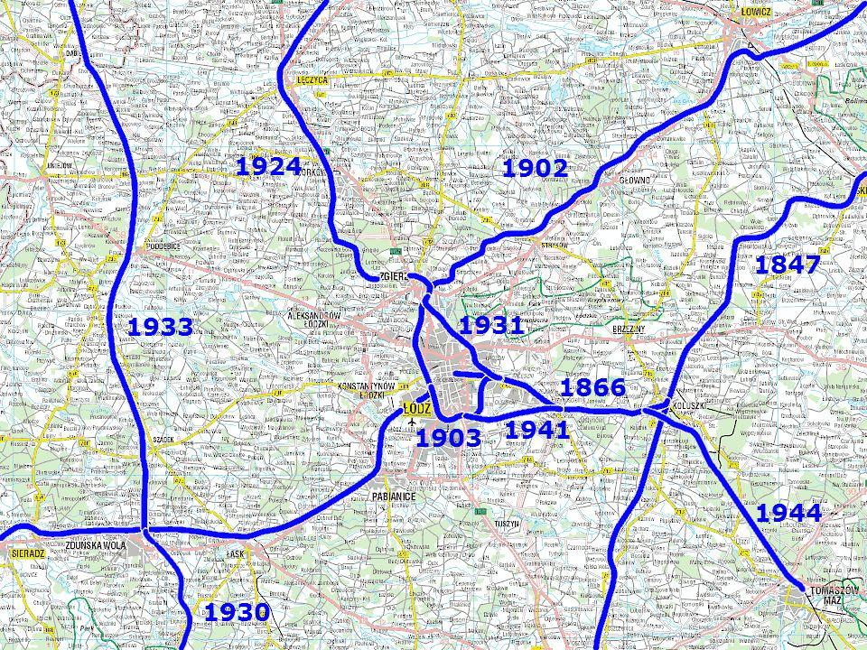 Węzeł - historia 1924 1902 1847 1933 1931 1866 1941 1903 1944 1930