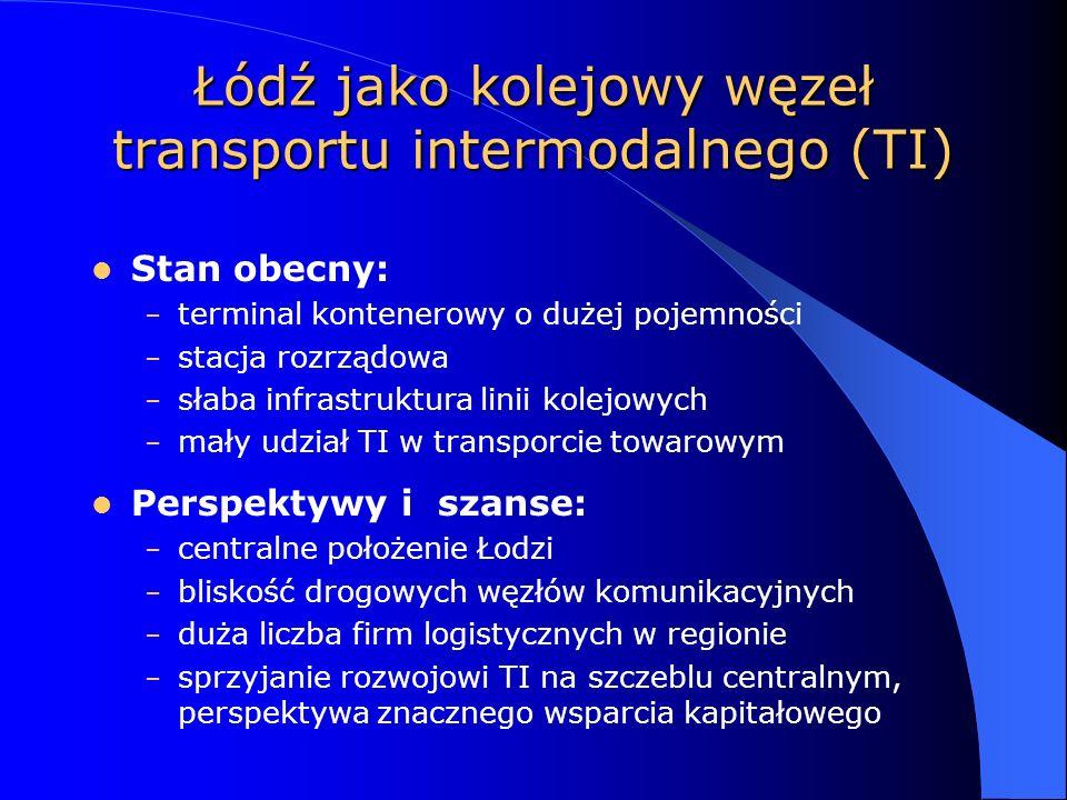 Łódź jako kolejowy węzeł transportu intermodalnego (TI)