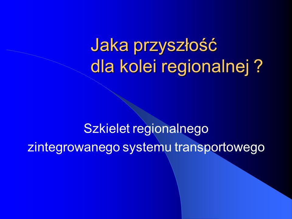 Jaka przyszłość dla kolei regionalnej