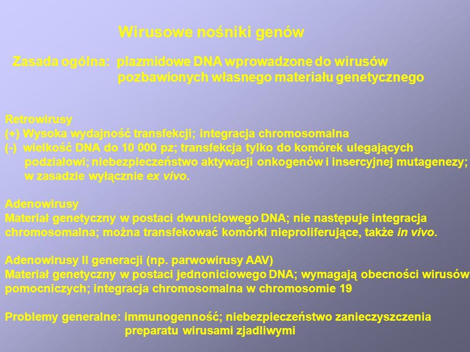 Wirusowe nośniki genów