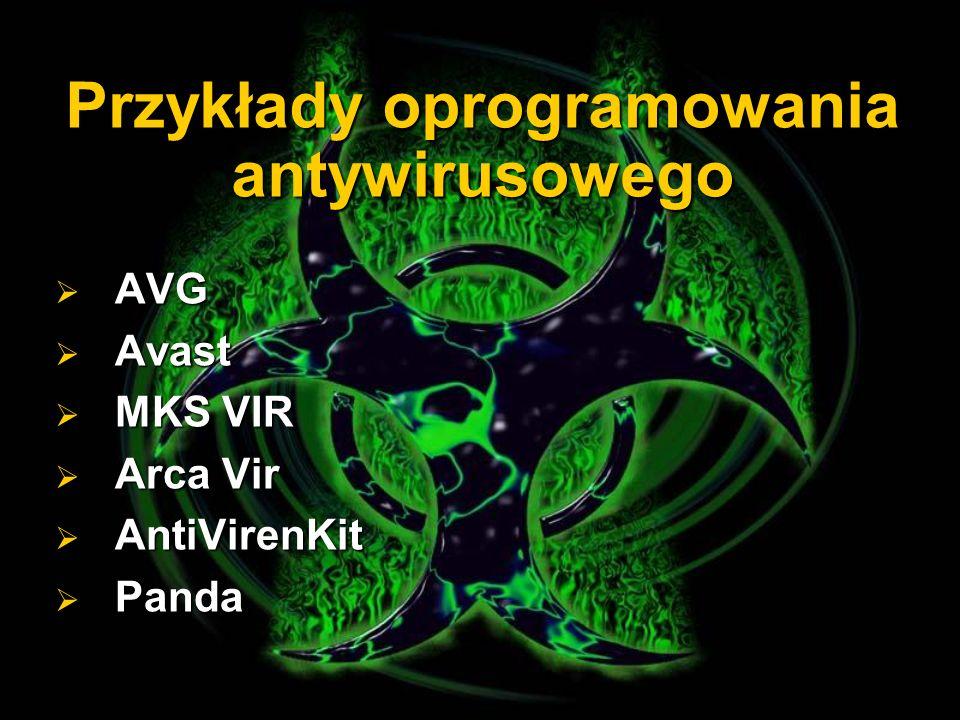 Przykłady oprogramowania antywirusowego