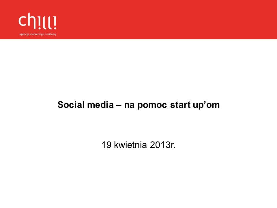 Social media – na pomoc start up'om