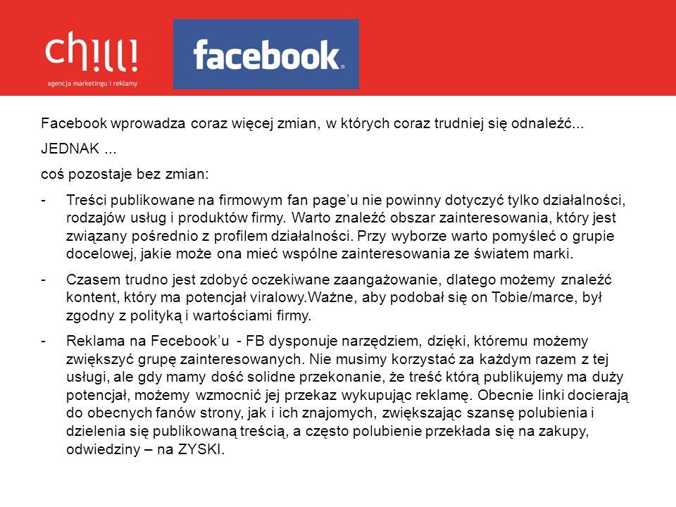 Facebook wprowadza coraz więcej zmian, w których coraz trudniej się odnaleźć...