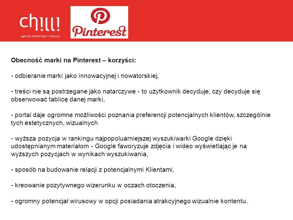Obecność marki na Pinterest – korzyści: