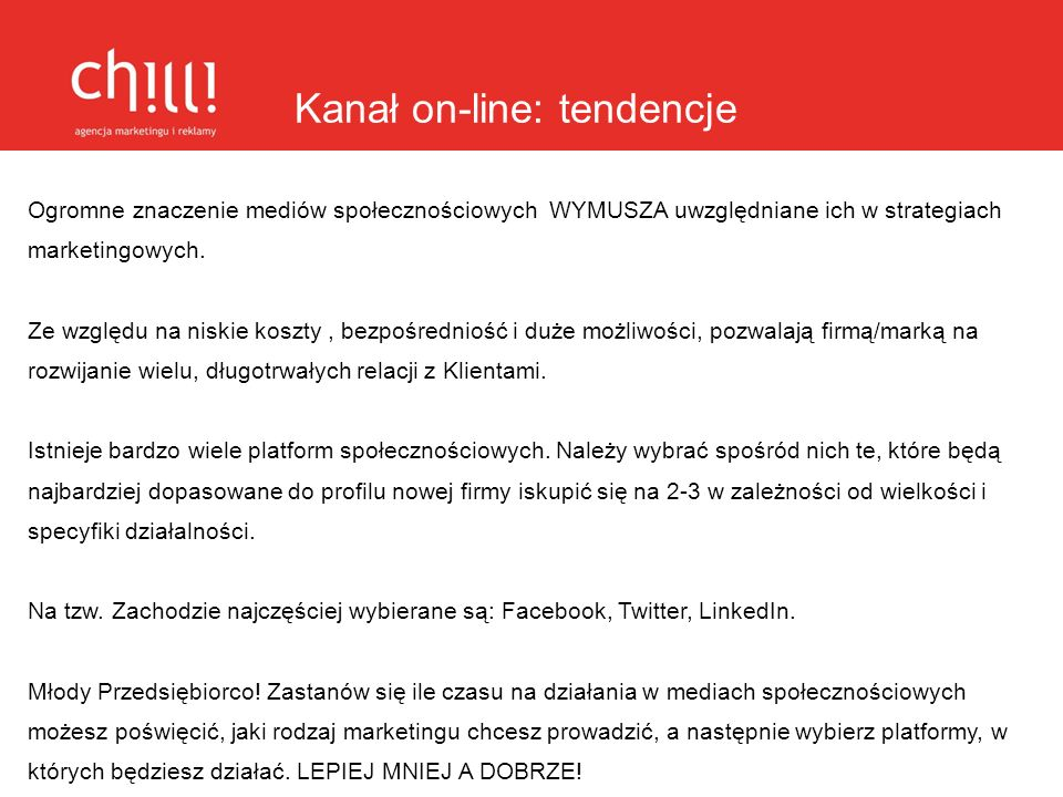 Kanał on-line: tendencje