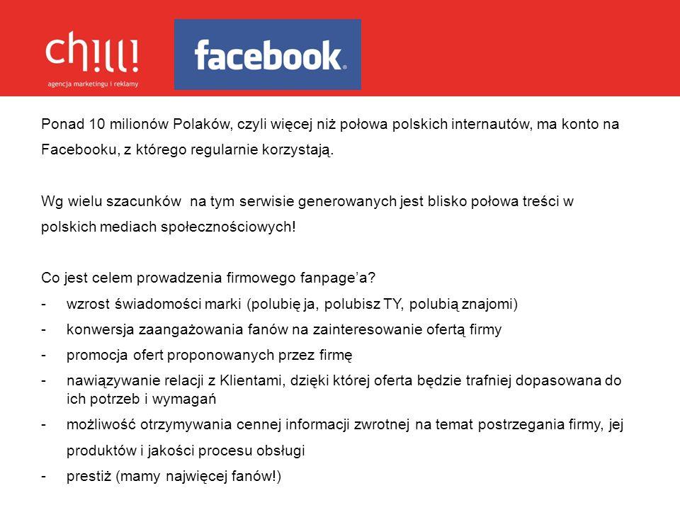 Ponad 10 milionów Polaków, czyli więcej niż połowa polskich internautów, ma konto na