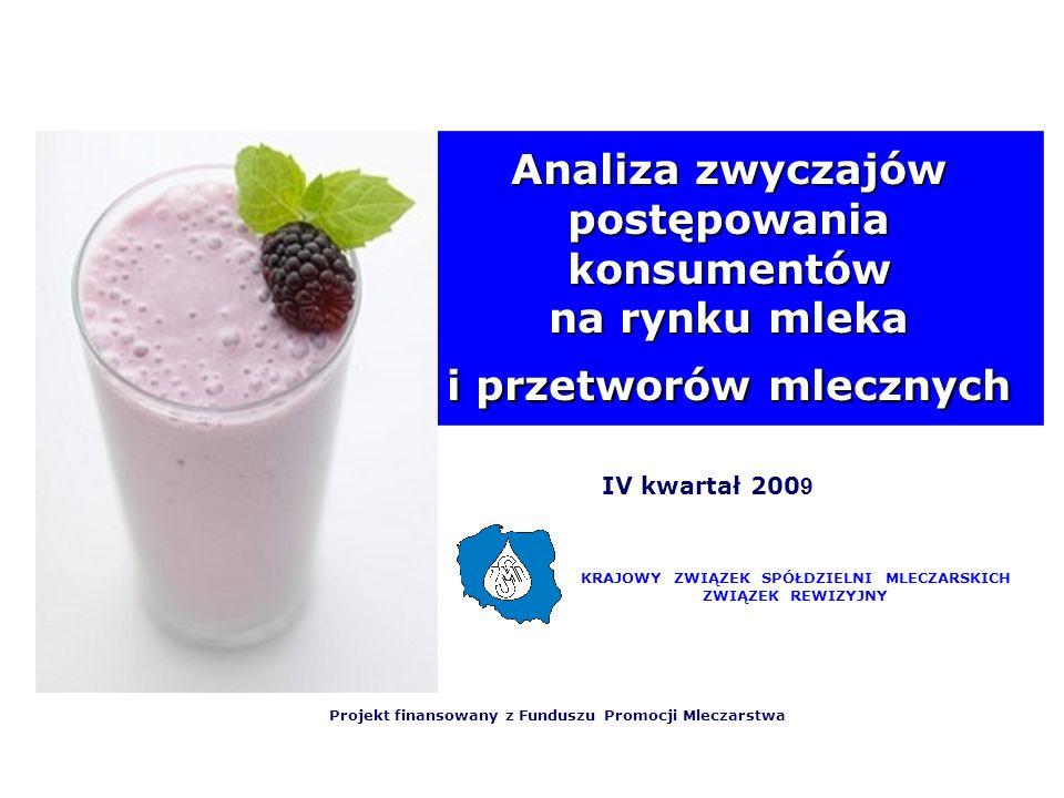 Analiza zwyczajów postępowania konsumentów na rynku mleka i przetworów mlecznych
