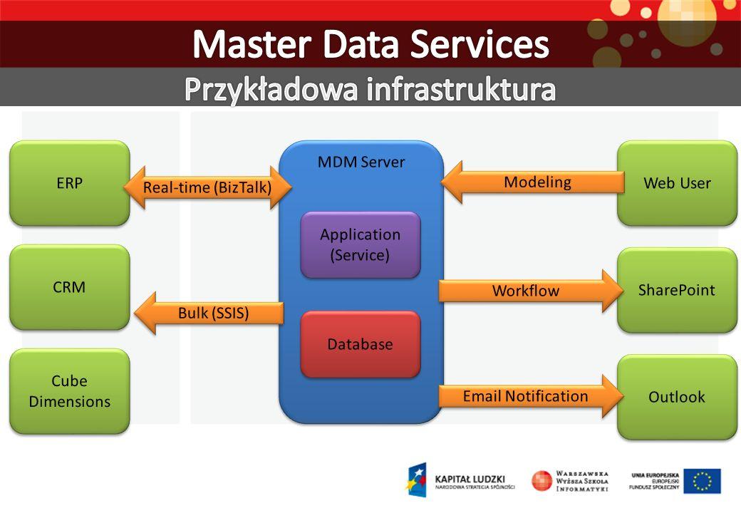 Master Data Services Przykładowa infrastruktura