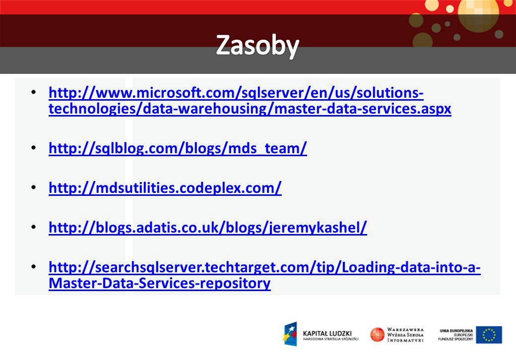 Zasobyhttp://www.microsoft.com/sqlserver/en/us/solutions-technologies/data-warehousing/master-data-services.aspx.