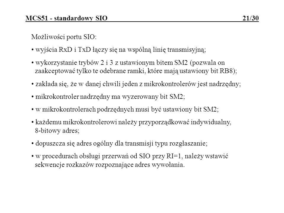 MCS51 - standardowy SIO 21/30