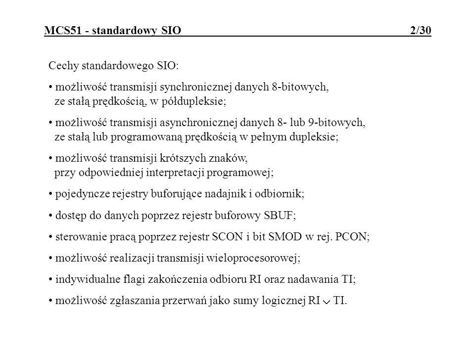 MCS51 - standardowy SIO 2/30