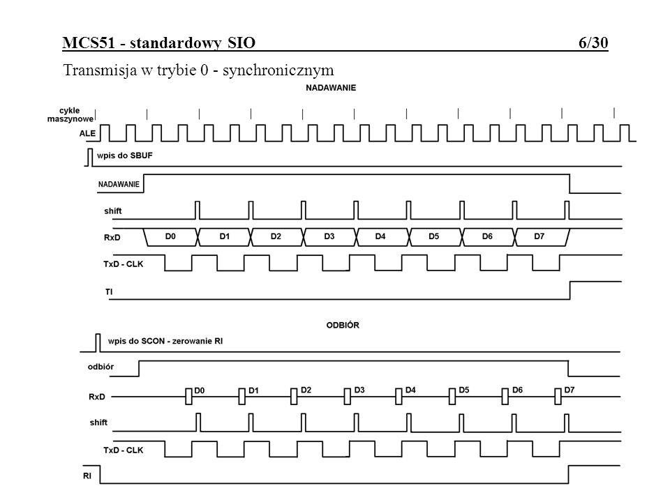 MCS51 - standardowy SIO 6/30