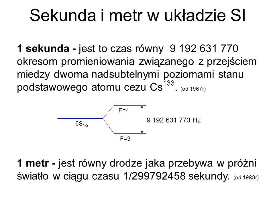 Sekunda i metr w układzie SI