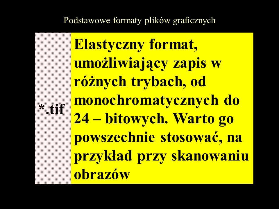 Podstawowe formaty plików graficznych