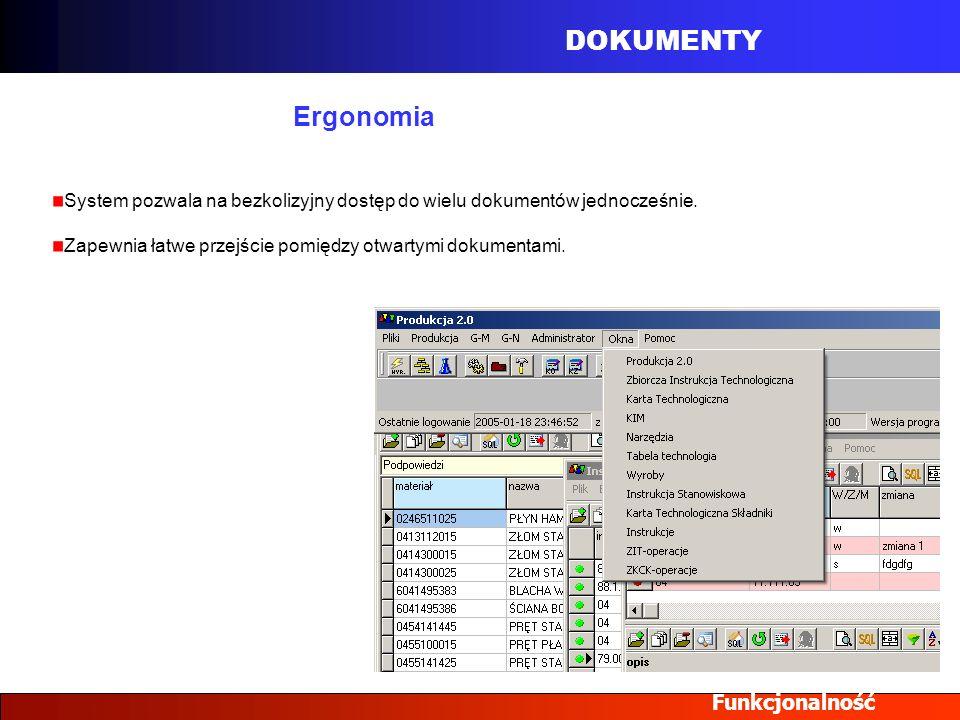 DOKUMENTY Ergonomia Funkcjonalność