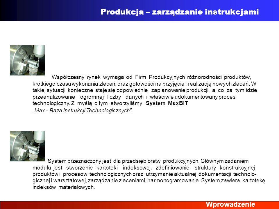 Produkcja – zarządzanie instrukcjami