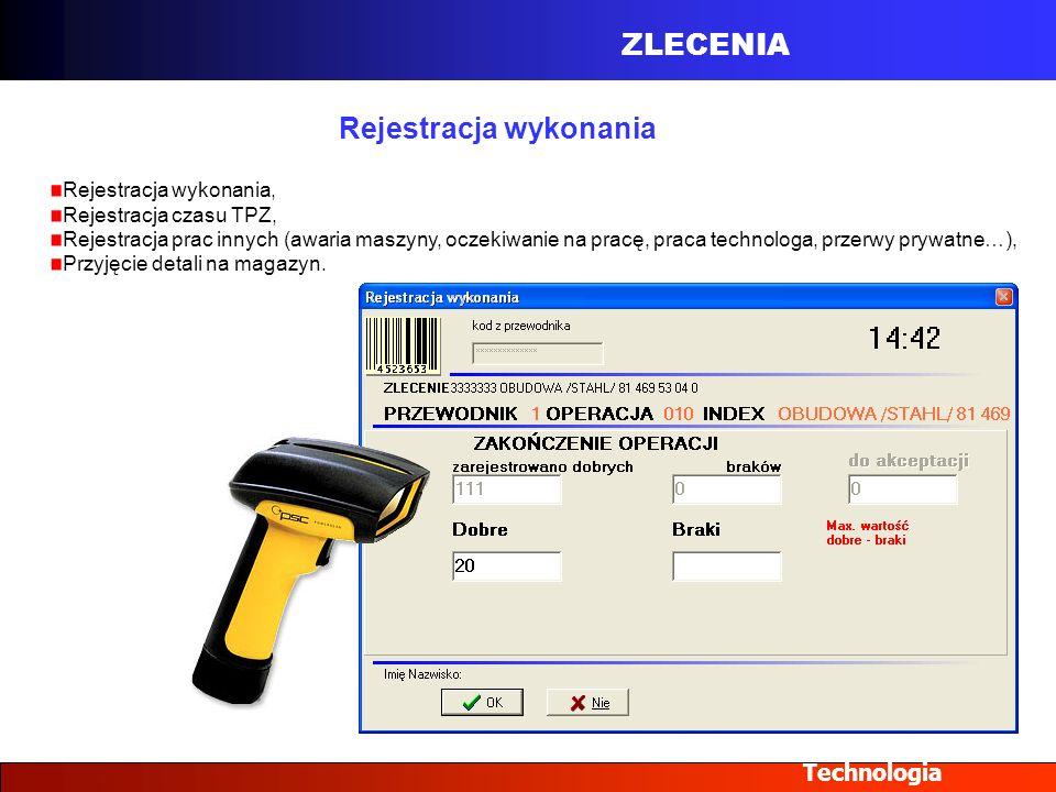 Rejestracja wykonania