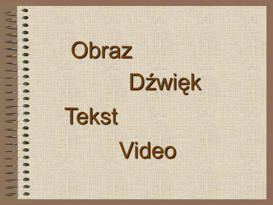 Obraz Dźwięk Tekst Video