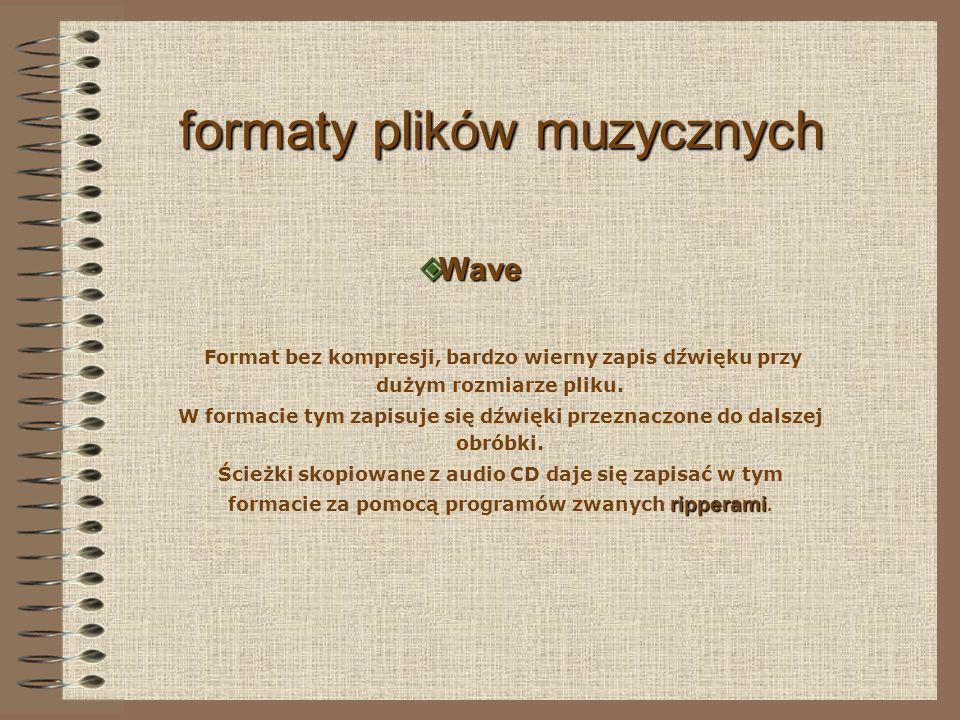 formaty plików muzycznych