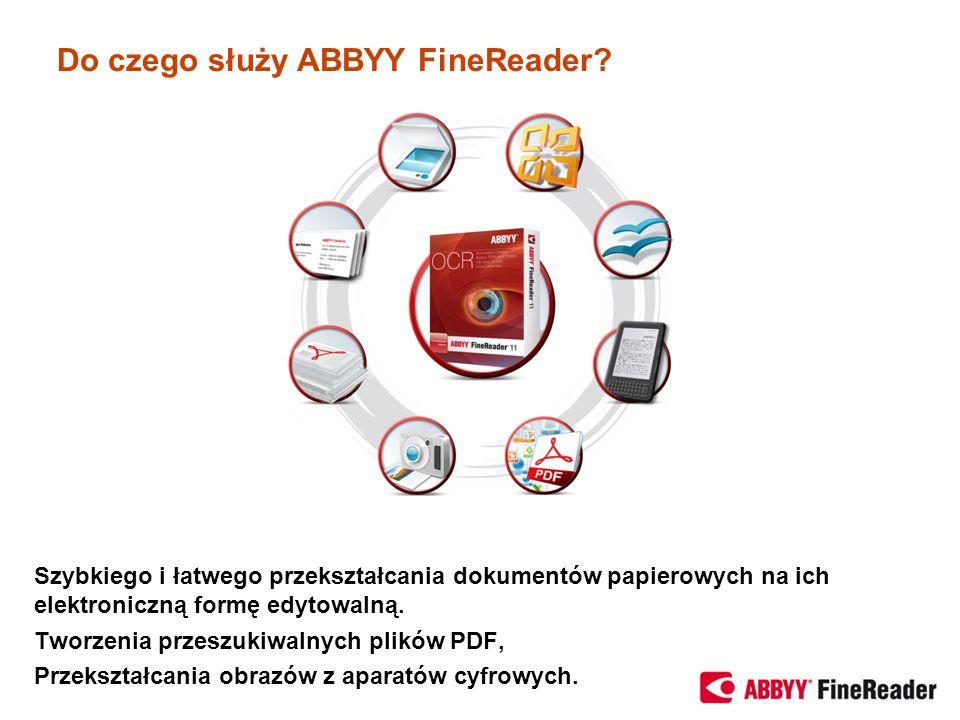 Do czego służy ABBYY FineReader