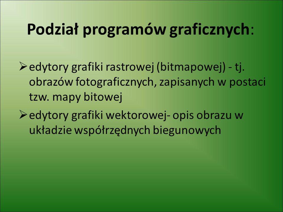 Podział programów graficznych: