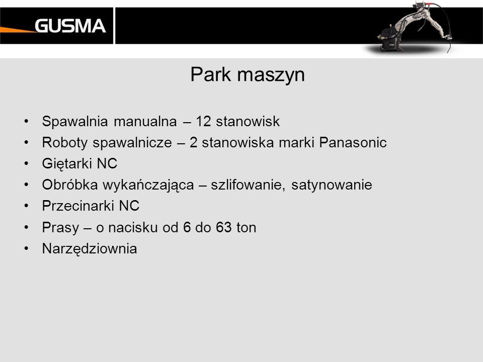 Park maszyn Spawalnia manualna – 12 stanowisk