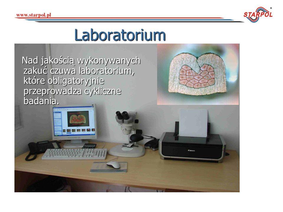 LaboratoriumNad jakością wykonywanych zakuć czuwa laboratorium, które obligatoryjnie przeprowadza cykliczne badania.