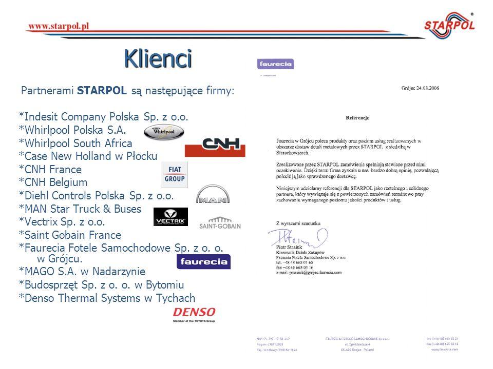 Partnerami STARPOL są następujące firmy: