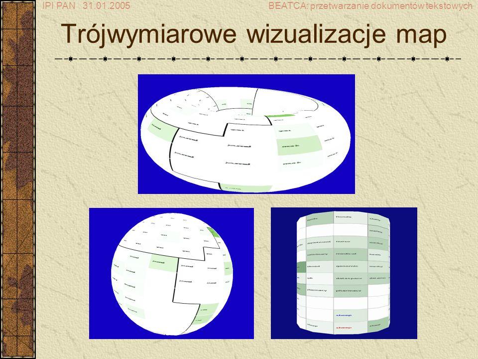 Trójwymiarowe wizualizacje map