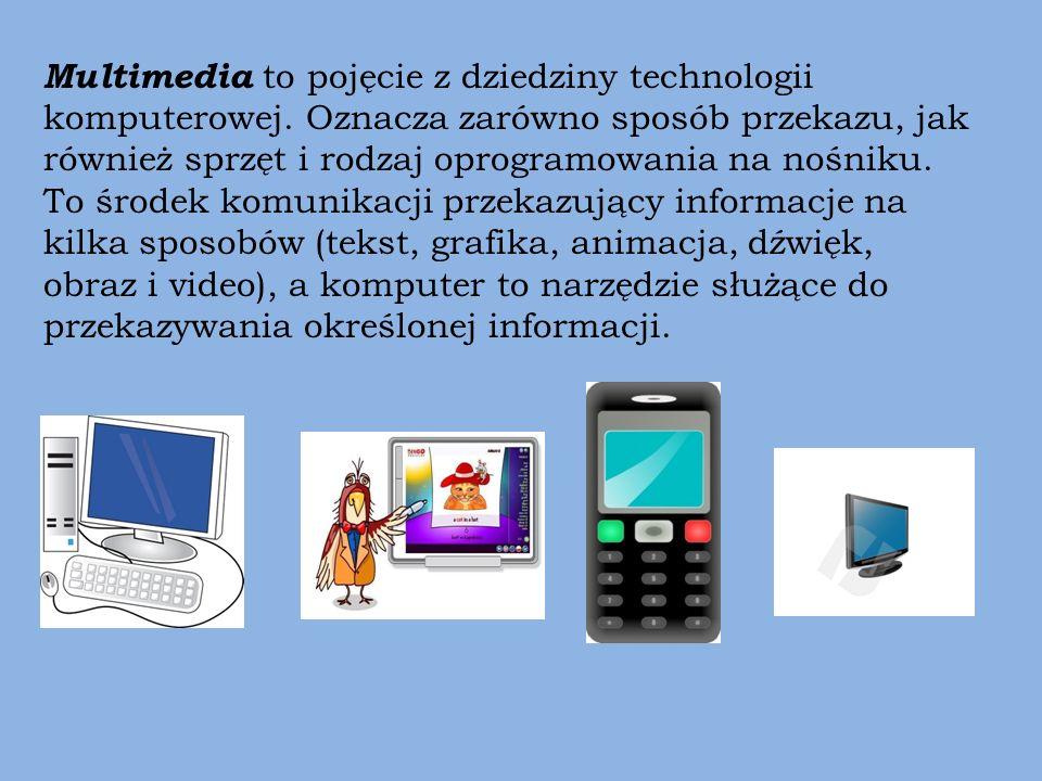 Multimedia to pojęcie z dziedziny technologii komputerowej