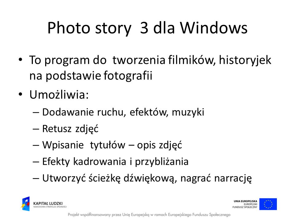 Photo story 3 dla Windows