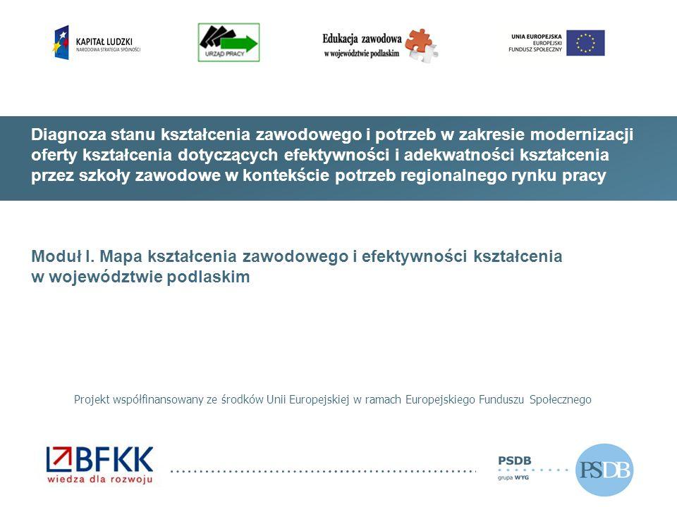 Diagnoza stanu kształcenia zawodowego i potrzeb w zakresie modernizacji oferty kształcenia dotyczących efektywności i adekwatności kształcenia przez szkoły zawodowe w kontekście potrzeb regionalnego rynku pracy