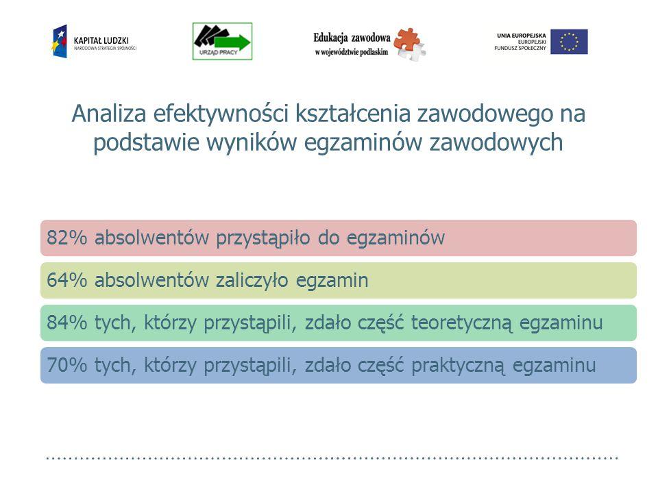 Analiza efektywności kształcenia zawodowego na podstawie wyników egzaminów zawodowych