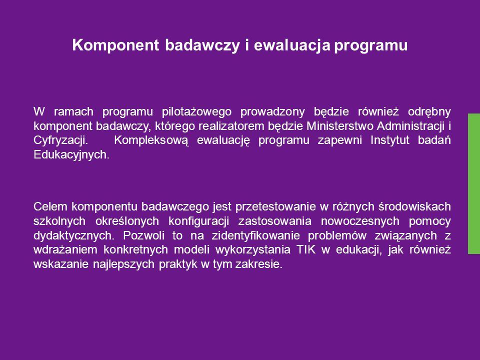 Komponent badawczy i ewaluacja programu