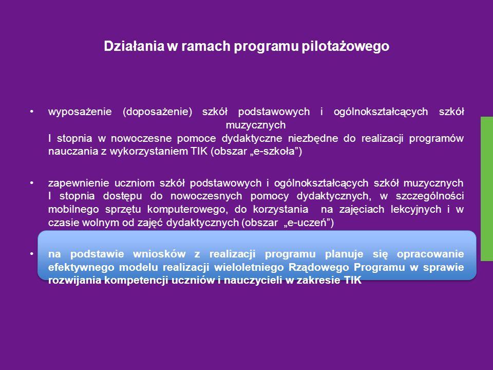 Działania w ramach programu pilotażowego