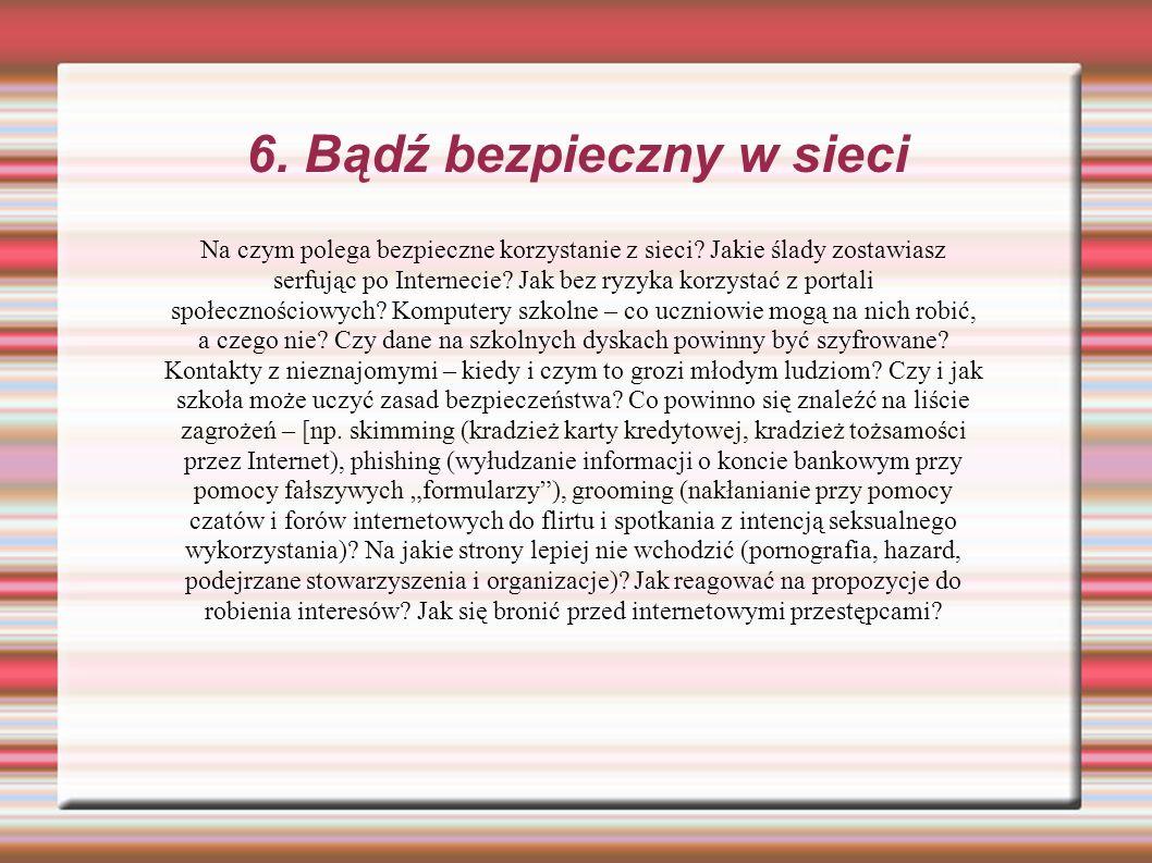 6. Bądź bezpieczny w sieci