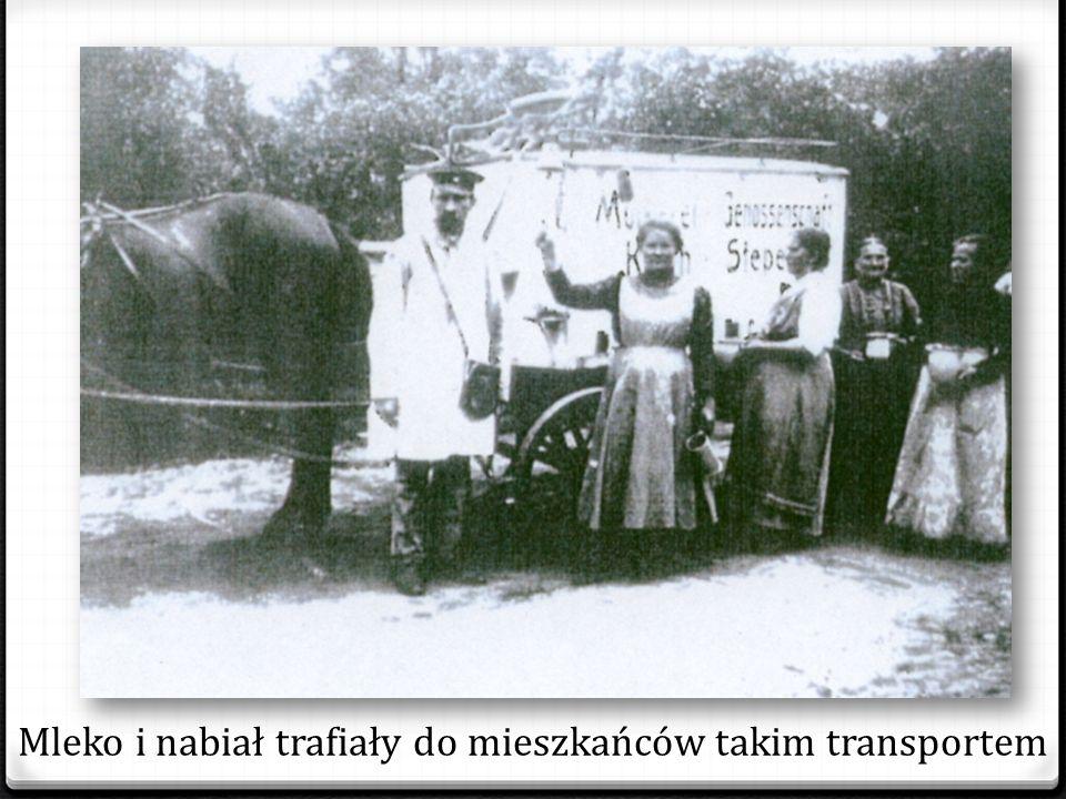 Mleko i nabiał trafiały do mieszkańców takim transportem